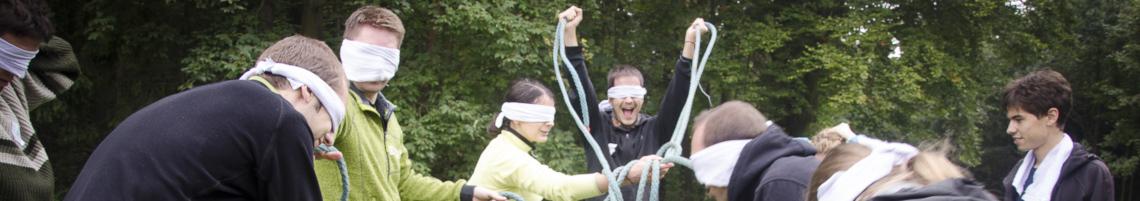 Aktivita naslepo s lany